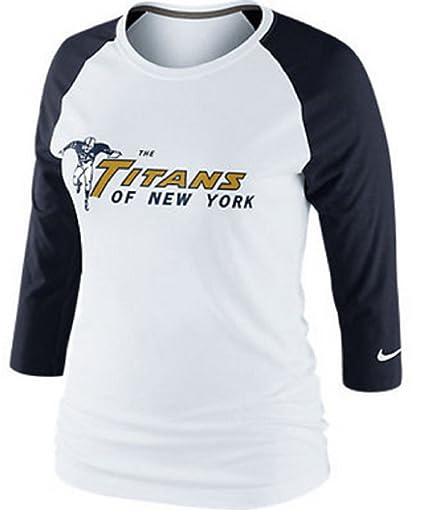 348fa018c Amazon.com   Nike New York Titans NFL Womens Retro 3rd N Long Raglan ...