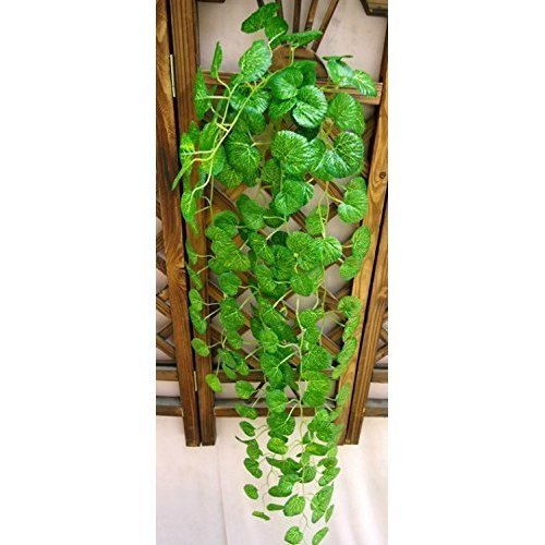 Liroyal Artificial Fake Hanging Vine Plant Leaves Garland Garden Decoration