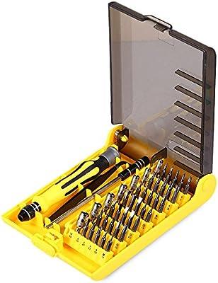 Pequeño juego de destornilladores Mini destornillador Set – Super deal Precision 45 en 1 electrón Torx Mini magnético Destornillador Juego de herramientas Kit de herramientas de mano herramientas de reparación de teléfono