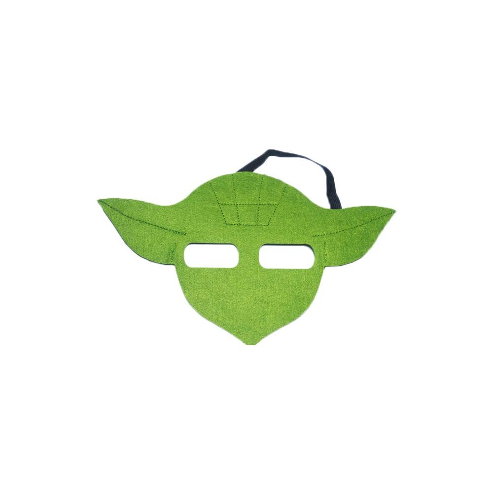 Star Wars Yoda Cartoon Kids Costume Felt Mask by Superheroes Brand