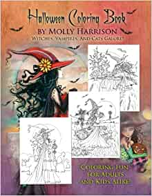 Halloween Coloring Book: by Molly Harrison: Molly Harrison