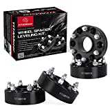 "Chevy Silverado Wheel Spacers, YITAMOTOR 4pcs 2"" 6x5.5 Wheel Spacers 6 Lug Wheel Adapters For Chevy Silverado 1500 Suburban Express GMC Sierra Yukon Cadillac(14 x1.5 studs&78.1mm hub Bore)"