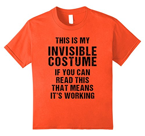 Invisible Woman 90's Costume (Kids Funny Invisible Halloween Costume T Shirt for Men Women Kids 12 Orange)
