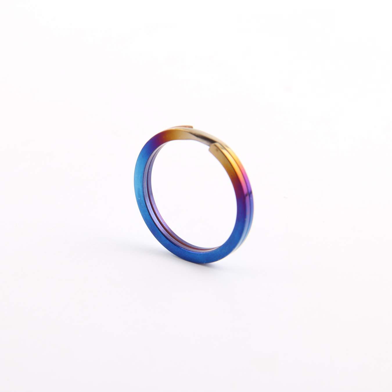 Tiremet Titanium Stinger Self Defense Keychain Keyring Kubotan Kubaton Pocket Stick (O-Ring(Blue)) by Tiremet