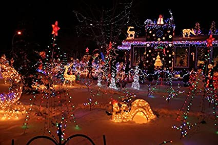 home comforts canvas print light holiday decoration xmas lights christmas stretched canvas 10 x 14 - Pnc Christmas Lights