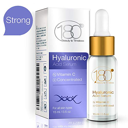 Hyaluronic Acid Serum for Face - 180 Cosmetics - Face Lift Skin Serum for Face and Eyes - Pure Hyaluronic Acid For Immediate Results - Hydrating - Anti Aging - Anti Wrinkle - Wrinkles and Fine Lines