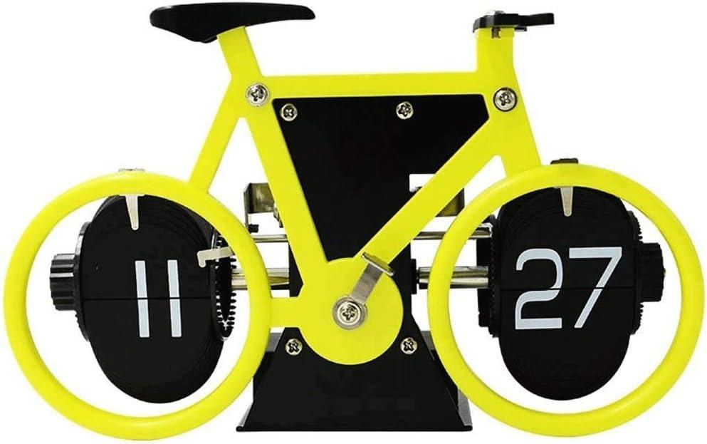 JJZST Estilo Retro de Bicicletas en Forma de tirón Abajo registra, clásica mecánica Reloj de Escritorio, Pantalla Digital con Pilas for la decoración de hogar y Oficina (Color : C): Amazon.es: Hogar