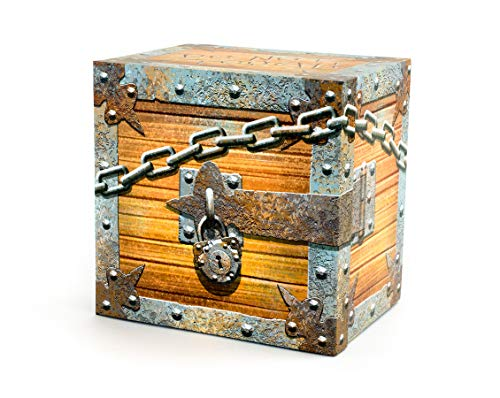 Pirate Ship Bank - Save Spend Give Piggy Bank - Money Organizer Money Box - Treasure Chest by The Piggy Box