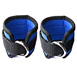Carejoy Ankle Straps,2pcs Fitness Ankle Exercise Equipment Workout Strap with Buckle D Ring Elastic Rope