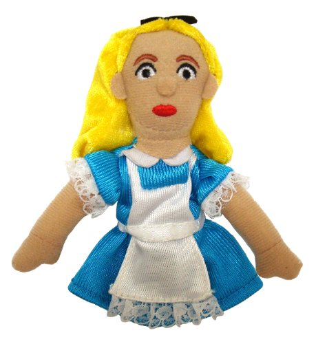 The Unemployed Philosophers Guild Wonderland Alice Finger Puppet and Refrigerator Magnet - for Kids and Adults 4 Cotton Finger Puppets