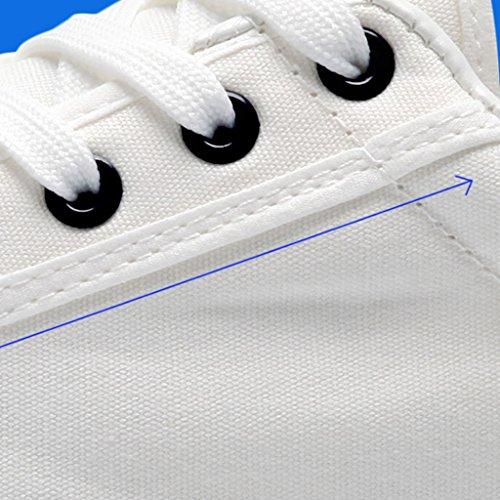 da Size Scarpe da stile uomo in Scarpe di YaNanHome tela coreano Espadrillas Color 38 di Blue casual scarpe Bianca tendenza uomo basse fzHxBWBn