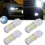 TUINCYN 3157 White 5630 33SMD LED Bulbs 8000K 900 Lumens 3047 3057 3155 Bright Brake Stop Parking Light Turn Signals Bulb Side Markers Lamp DC 12V 3.6W (Pack of 4)