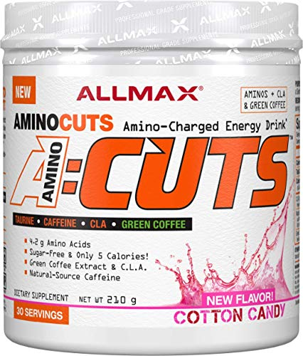 ALLMAX Nutrition A:CUTS, Amino Charged Energy Drink, Cotton Candy, 210g