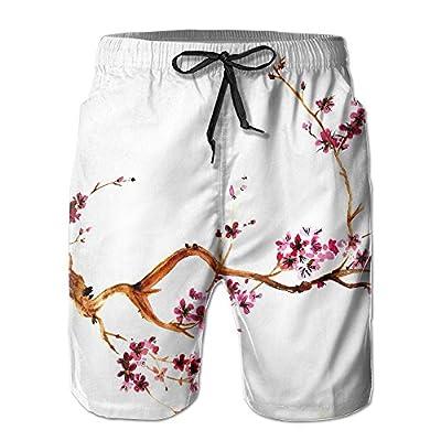 Zephyr Landscape Cherry Japan Beach Shorts Vibrant Styles Pants For Mans SizaColour Size