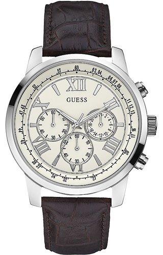 Guess Orologio Cronografo Quarzo Uomo con Cinturino in Pelle W0380G2  Amazon.it Orologi