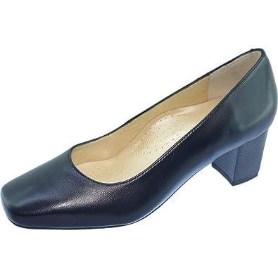 fab2fcab189 Escarpins d Hotesses Tobago Alarm Free Escarpin Grande Largeur Talon Carré  Chaussures Confort Uniforme Femme