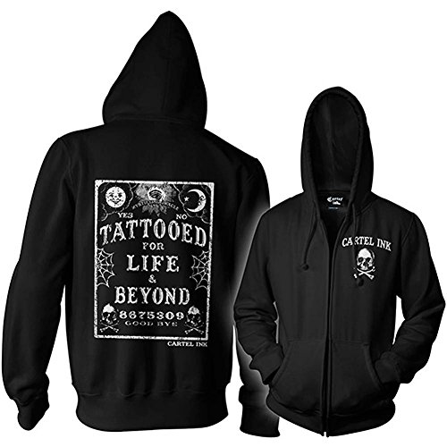 Cartel Ink Unisex Tattooed for Life Zippered Hoodie 3XL by Cartel Ink