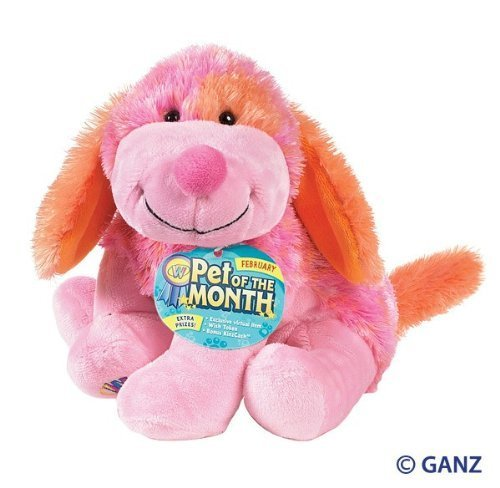 - Webkinz Pink Punch Cheeky Dog February Pet of the Month by Webkinz