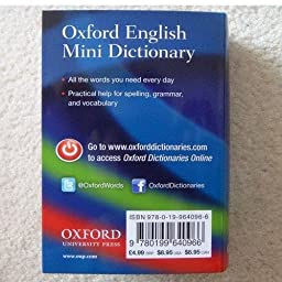 Amazon.com: Oxford English Mini Dictionary (9780199640966