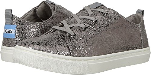 Toms Youth Lenny Novelty Textile Sneaker, Size: 12 M US Little Kid, Color: Pewter Crackle Foil (Crackle Footwear)