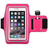 Water Resistant Sports running Armband,1Pack CaseHQ sporty sweat proof Arm Bag armband case with Key Holder for iPhone 7 7plus 6 Plus 6S Plus,Samsung Galaxy S6/S5, Note 4 Bundle with Screen Protector