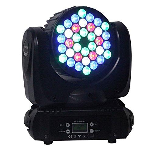 g LED Par Light Spot Beam 108W 36LEDs RGBW (4In1) DMX512 Moving Head for Home Garden Xmas Christmas Birthday Party DJ Disco Club Effect ()