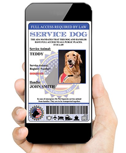 Digital Service Dog ID (Custom) | Includes Registration To National Dog Registry (Custom Service Dog Id Card compare prices)