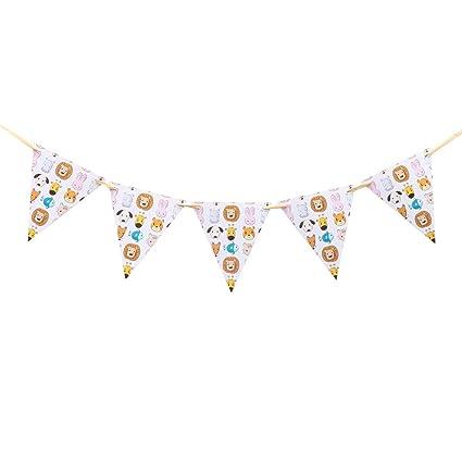 Amosfun Feliz cumpleaños Banner Animal Decoraciones de ...