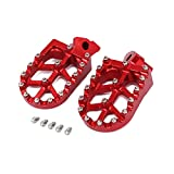 JFG RACING CNC Red Foot Pegs Footpegs Foot Rests Foot Pedals For For Honda CR125 CR250 1995-1999 CR500 1995-2005