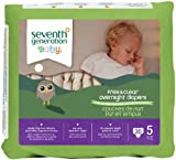 Seventh Generation Baby Overnight Diapers Stage 5 — 20 Diapers, Health Care Stuffs