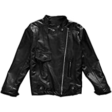 Dreamyth Spring Autumn Baby Kids Girls Faux Leather Jacket Children Outwear Coat Clothes