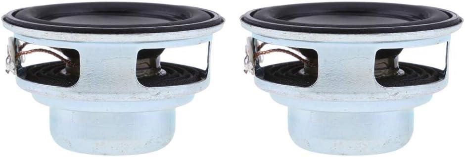 Homyl 2x 40mm 4Ohm 5W Full Range Audio Speaker Round Loudspeaker 16 Coil
