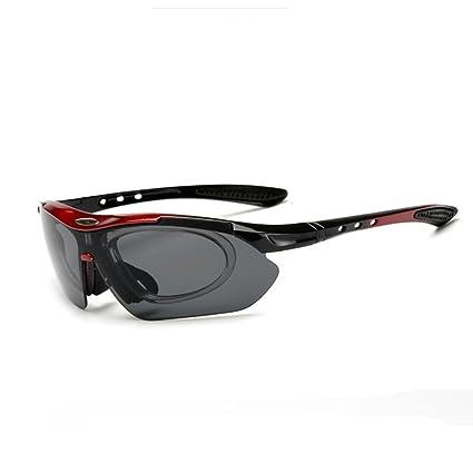 H&YL Gafas de sol polarizadas para deportes, con 4 lentes intercambiables, diseño de marco