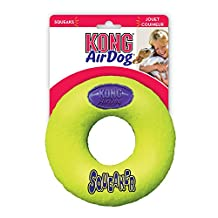 Kong Air Squeaker Donut Dog Toy, Large, Yellow