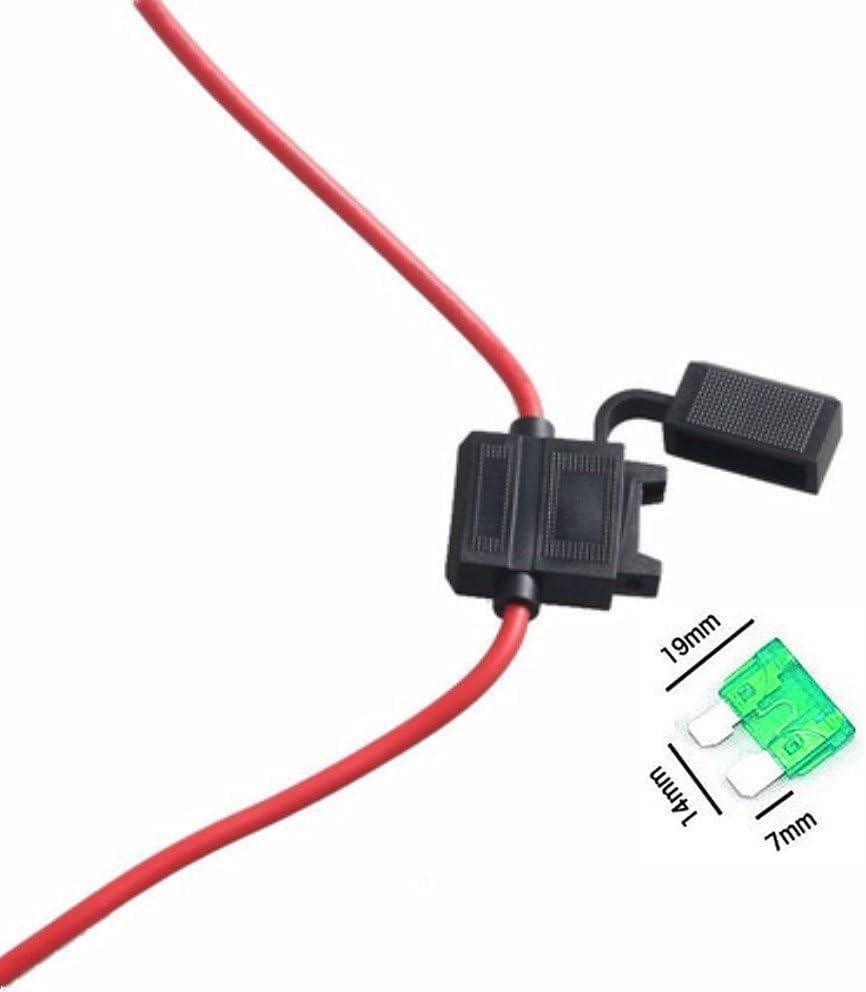 1pcs Qiorange Circuit Fuse Tap Piggy Back Standard Blade Ato Atc Fuse Holder Box 12V 24V