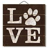 Cheap LOVE (pawprint) 12″ x 12″ Wood Sign