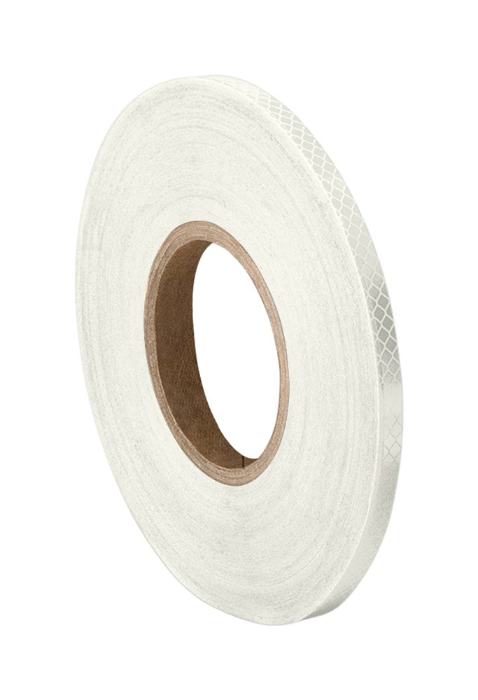 "3M 3430 White Micro Prismatic Sheeting Reflective Tape 0.5"" Width x 50 yd Length (Pack of 2)"