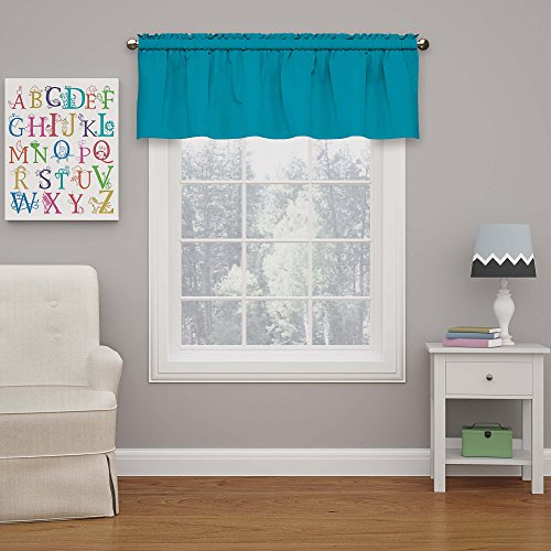 Eclipse Kids Microfiber Blackout Window Valance, Rich Teal, 42