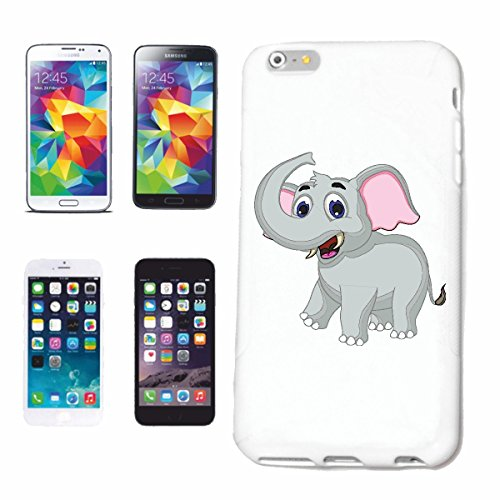 "cas de téléphone iPhone 7S ""PETITE DOUX ELEPHANT ELEPHANT COFFRE ANIMAL AFRICAN ELEPHANT ASIAN ELEPHANT BENJAMIN"" Hard Case Cover Téléphone Covers Smart Cover pour Apple iPhone en blanc"
