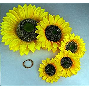 ZJJZH Artificial Decorative Flowers Simulation Sun Flower Sunflower Fake Flower Show Props Flower Products Include:Artificial Flowers,Decorative Artificial Plants. 1