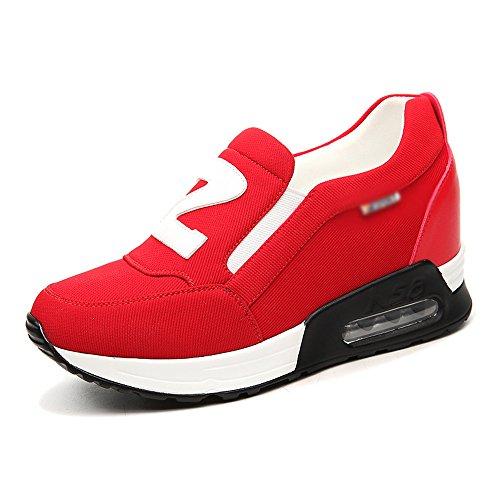 Red Unique Chaussures Printemps Sneakers Durable Lady Xiaxia Confortable Noir Rouge awxqAnBz6p