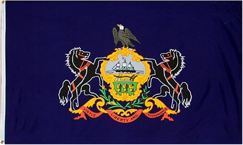 Pennsylvania State Flag 3x5 feet Printed Polyester
