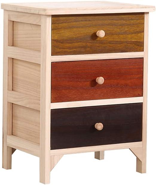 Amazon.com: Bedside table Night Table Solid Wood Mini ...