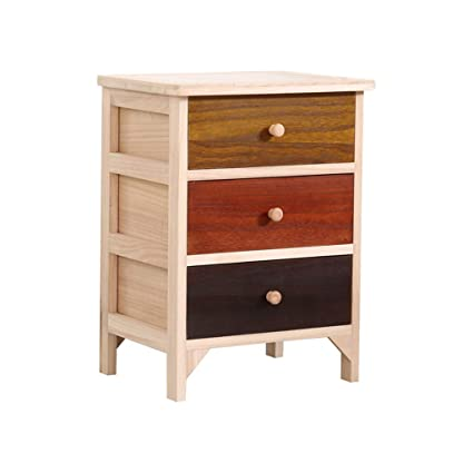 Amazon.com: Bedside table Dressing Table Solid Wood Mini Storage ...
