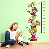 Kaimao Cartoon Alphabet Removable Wall Decal Stickers Kids Growth Chart Height Measure