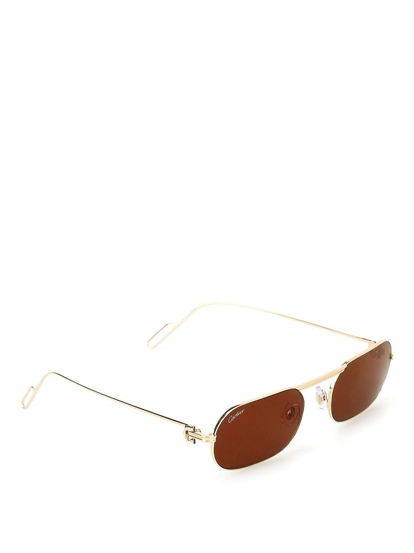 Luxury Fashion | Cartier Hombre CT0112S003 Oro Gafas De Sol ...