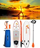 Freein Cruise SUP Set | Inflatable Stand Up Paddle Board | 10'2'x31'x6' | Aluminium Floating Paddle | Air Pump with Pressure Gauge | Rucksack | Leash | 2 Years Warranty Reusable