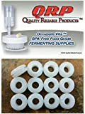 12 QRP GROMMETS BPA-FREE FOOD GRADE WHITE SILICONE for Fermenting with Airlocks Bulk Quantities Available