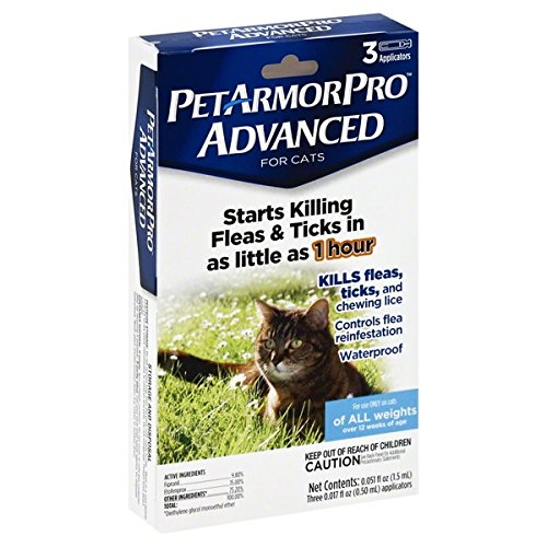 Pet Armor Pro Advanced For Cats Flea and Tick For All Weights
