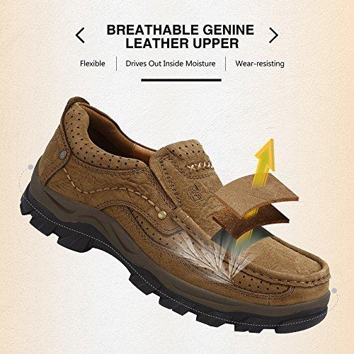 Mocasines Bronze para Mocasín Mocasines Conducción Sneaker Pisos Hombre Casual TAW1qnTr